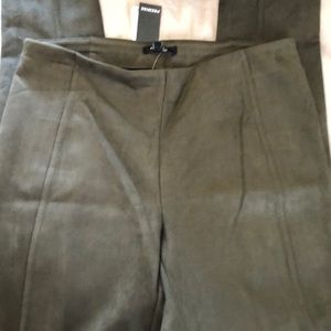 Pull on skinny faux suede pants